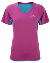 Ron Hill Womans Aspiration T Shirt Magenta/Cyan