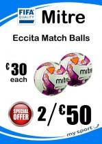 2 x Mitre Eccita (FIFA Quality) Football Deal