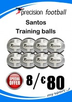 8 Precision Santos Training Balls (Free Carry Net)