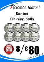 8 Precision Santos Training Balls (Free Carry Net)
